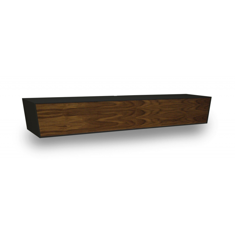 Vägghängd TV-bänk Amazon Dark Walnut