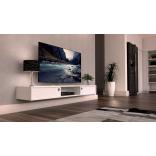Snygg vägghängd tv bänk