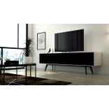 """Dominator XL, Stor tv-bänk med tygluckor. För tv 65"""" 75"""" 80"""""""